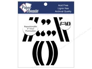 scrapbooking & paper crafts: Paper Accents Adhesive Vinyl 4 in. Punctuation 14 pc. Removable Black