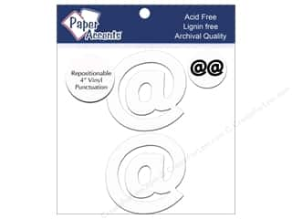 "scrapbooking & paper crafts: Paper Accents Adhesive Vinyl 4 in. Punctuation ""@"" 2 pc. Removable White"