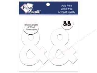 "craft & hobbies: Paper Accents Adhesive Vinyl 4 in. Punctuation ""&"" 2 pc. Removable White"