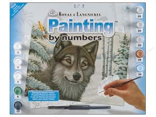 Royal Rub Ons: Royal Paint By Number Kit Large Snow Wolf