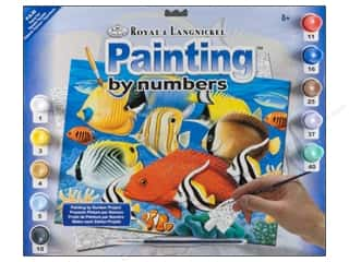 Royal Rub Ons: Royal Paint By Number Kit Large Tropical Fish