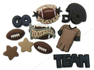 Buttons: Jesse James Dress It Up Embellishments Sports Collection Football