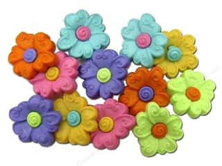 scrapbooking & paper crafts: Jesse James Dress It Up Embellishments Button Fun Two Part Flower