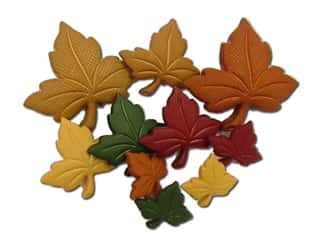craft & hobbies: Jesse James Embellishments - Autumn Leaves