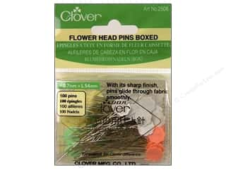 flat head pins: Clover Flower Head Pins 100 pc.