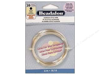 beading & jewelry making supplies: Beadalon German Style Wire 20ga Round Silver Plated 19.7 ft.