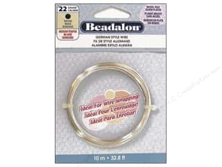 beading & jewelry making supplies: Beadalon German Style Wire 22ga Round Silver Plated 32.8 ft.
