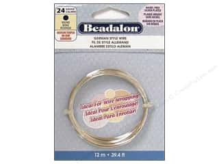 beading & jewelry making supplies: Beadalon German Style Wire 24ga Round Silver Plated 39.4 ft.