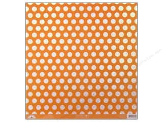 Clearance Doodlebug Glitter: Doodlebug Paper 12 x 12 in. Candy Dots Tangerine (25 sheets)