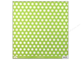 scrapbooking & paper crafts: Doodlebug 12 x 12 in. Paper Candy Dots Limeade (25 sheets)