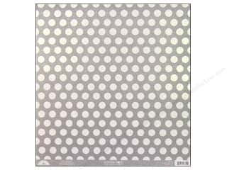 Clearance Doodlebug Glitter: Doodlebug Paper 12 x 12 in. Candy Dots Grey (25 sheets)