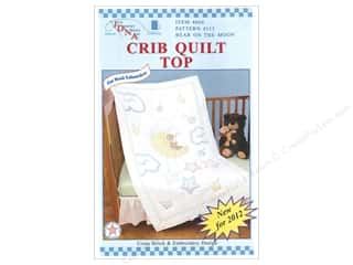 yarn & needlework: Jack Dempsey Quilt Top Crib Bear On The Moon