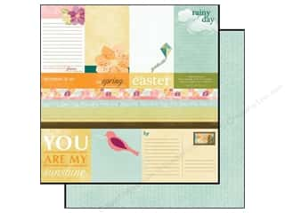 Spring Printed Cardstock: Echo Park 12 x 12 in. Paper Hello Spring Collection Journaling (15 sheets)