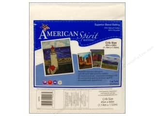 "Cotton/Poly blends batting: Fairfield American Spirit Batting Superior Cotton/Poly 45""x 60"""