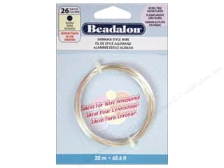 craft & hobbies: Beadalon German Style Wire 26ga Round Silver Plated 65.5 ft.