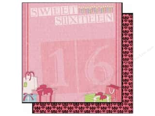 Clearance Best Creations Paper 12x12: Best Creation 12 x 12 in. Paper Sixteen Candles Collection Ribbons & Bows (25 sheets)