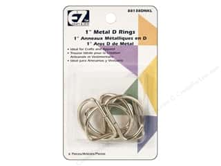 EZ Quilting D-Rings 1 in. Nickel 6 pc.