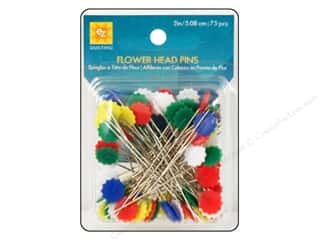 flat head pins: EZ Pins Flat Flower Head 75pc