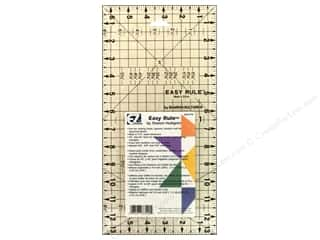 rotary cutter: EZ Quilting Easy Rule Acrylic Ruler 6 1/2 x 13 in.