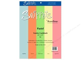 scrapbooking & paper crafts: Paper Accents Cardstock Variety Pack 8 1/2 x 11 in. Pastel 5 pc.