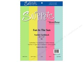 cardstock: Paper Accents Cardstock Variety Pack 8 1/2 x 11 in. Fun In The Sun 5 pc.