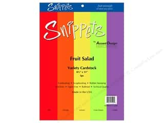 Cardstock Variety Pack Snippets 8 1/2 x 11 in. Fruit Salad 5 pc. by Paper Accents