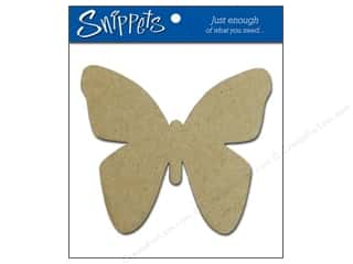 Paper Accents Chipboard Shape Butterfly 3 pc. Kraft.