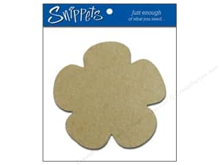 Chipboard Shapes  Flowers: Paper Accents Chipboard Shape Flower 3 pc. Kraft