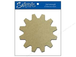 die cuts: Paper Accents Chipboard Shape Sprocket 3 pc. Kraft