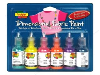 Weekly Specials Scribbles Dimensional Fabric Paint Set: Scribbles Dimensional Fabric Paint Set Iridescent 6pc
