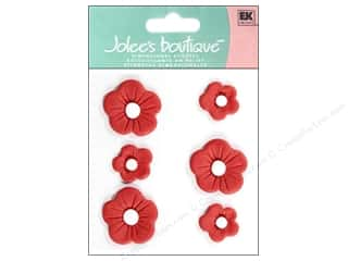 Clearance: Jolee's Boutique Stickers Confection Fondant Flower Large Red