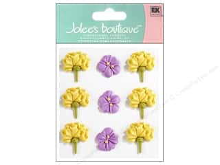 Clearance: Jolee's Boutique Stickers Confection Icing Flower Large Yellow and Purple