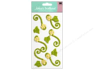 stickers: Jolee's Boutique Stickers Confection Icing Flower Flourishes Green and Yellow