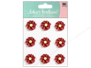 Clearance: Jolee's Boutique Stickers Confection Icing Flower Pleated Red