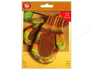 yarn & needlework: Boye Suede Mitten Palms Small Black