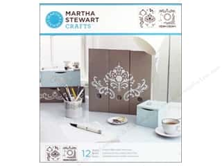 stencil: Martha Stewart Stencils by Plaid Flourish Medium