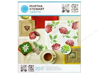 Four Seasons Flowers: Martha Stewart Stencils by Plaid Four Seasons Medium