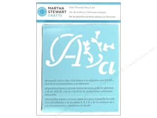 Martha Stewart Stencils by Plaid Alphabet Italic Flourish