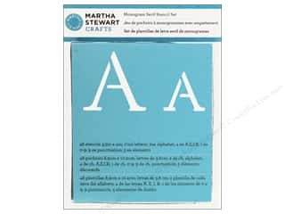 Martha Stewart Stencils by Plaid Alphabet Monogram Serif