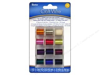 Darice Copper Craft Wire Spools 26 ga. 12 pc. Light Colors
