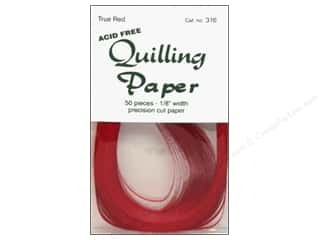 Lake City Crafts Quilling Paper 1/8 in. True Red 50 pc.