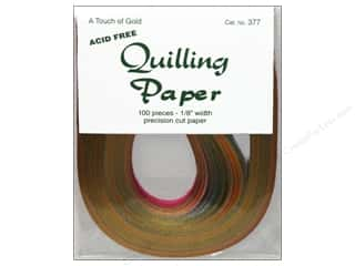 craft & hobbies: Lake City Crafts Quilling Paper 1/8 in. Touch Gold 100 pc.