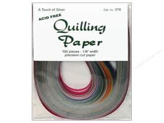 quilling: Lake City Crafts Quilling Paper 1/8 in. Touch Silver 100 pc.
