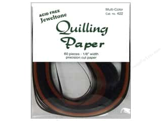 craft & hobbies: Lake City Crafts Quilling Paper 1/8 in. Jeweltones 60 pc.