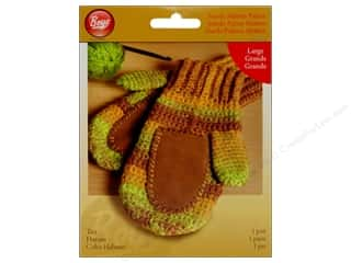 yarn & needlework: Boye Suede Mitten Palms Large Tan