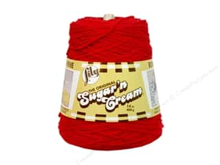 Yarn & Needlework: Lily Sugar 'n Cream Yarn Cone 14 oz. #02095 Red