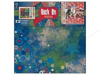 Clearance Off The Press Template: Hot Off The Press Paper Pack 12x12 Rock On