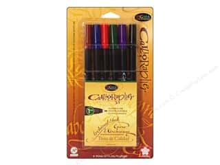 scrapbooking & paper crafts: Sakura Pigma Calligrapher Pen 1 mm Assorted Color 6 pc.