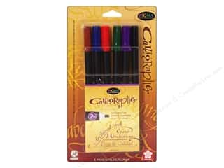 scrapbooking & paper crafts: Sakura Pigma Calligrapher Pen 2 mm Assorted Color 6 pc.