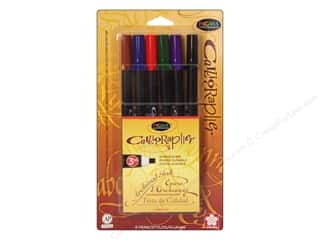 Sakura Pigma Calligrapher Pen 3 mm Assorted Color 6 pc.